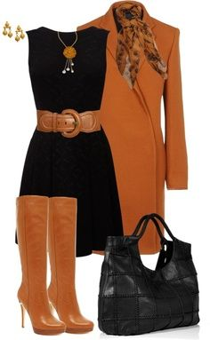 Fall! Love this burnt orange outfit!