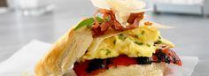 Parmesan Egg Biscuit Sandwich Recipe -