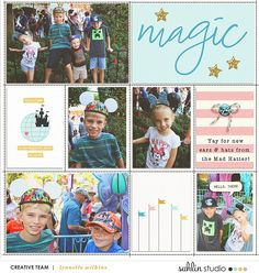 Magic Disney Project Life layout using Project Mouse: Beginnings Kit and Journal Cards by Sahlin Studio and Britt-ish Designs