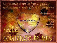 Bienvenidos a un nuevo mes lleno de Bendiciones y nuevas Oportunidades!!! Aprovéchalas con #anabelycarlos #nuevomes #septiembredecambio