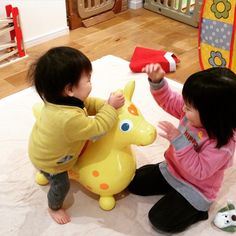 Instagram media wakiwaki2525 - 我が家にロディがやってきたー!! 中古だけどね(笑) 綺麗だし、十分(o˘◡˘o)  早速乗って遊ぶ子どもたち。 姉が乗るとロディから悲鳴が聞こえます(笑) 弟は乗れずにそのままロディと共に倒れます(笑) 適応年齢の方がおりません( ´д`ll)  ちなみに、息子はロディを生き物だと勘違いしているようです(o´罒`o)  #ロディ#ベビーイエロー