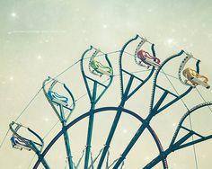Nursery Wall Art Mint Ferris Wheel Summer by HConwayPhotography, $30.00
