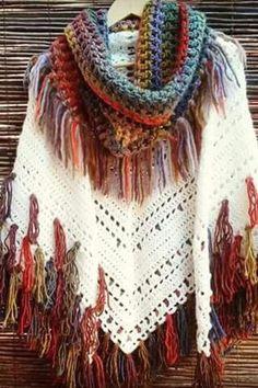 ideas crochet poncho hippie knits for 2019 Crochet Poncho Patterns, Crochet Cardigan, Crochet Shawl, Crochet Lace, Crochet Stitches, Knitting Patterns, Pdf Patterns, Knitting Blogs, Digital Pattern