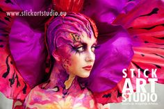 Escuela de maquillaje.  Realizado por Alejandra Ortiz, maestra de Stick Art Studio.  Barcelona, España