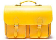 cartable jaune vitaminé en cuir Zorrro | shop pour enfants Le Petit Zèbre