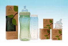 5 Phases Hybrid Glass Baby Bottles - $20