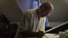 Golo dans son atelier de la Maison des auteurs, Angoulême - Photographie Alain François