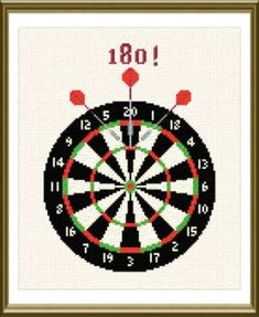 Darts cross stitch pattern.