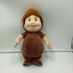 """Disney Store Peter Pan The Lost Boys Cubby Brown Plush Soft toy Stuffed 12"""" #Disney"""