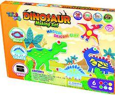 Lowlands Think Doh Silikonová modelína Dinosauři - Magická silikonová modelína, která neztvrdne, dokud se neupeče a i po zapečení zůstane pružná. Další výhody: čistá, omyvatelná, antibakteriální, vhodná i pro alergiky, cena: 239 Kč