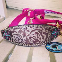Magics custom tack pink floral bronc halter www.magicscustomtack.com