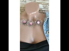 Wire flowers necklace - YouTube