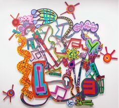 A particularly fanciful and delightful piece by a woman I've admired for 30 years, Elizabeth Murray, 2006.