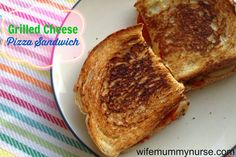 Wife, Mummy, Nurse: Grilled Cheese Pizza Sandwich #Recipe #Giveaway