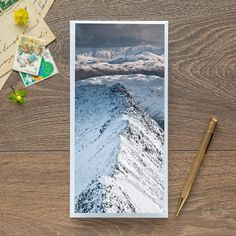 Single Blank Card by landscape photographer Nina K Claridge – Striding Edge, Helvellyn