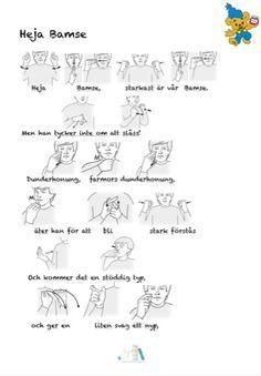 Bamse (Tecken som stöd) Sign Language, Homeschool, Singing, Teaching, Education, Kids, Pictogram, School, Manualidades