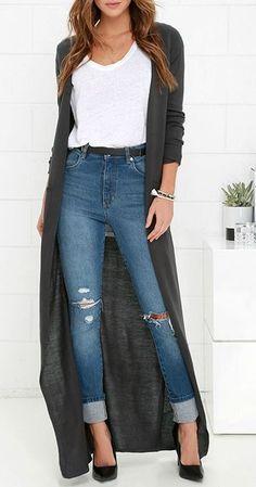 New knitting cardigan long fall outfits Ideas Fall Outfits, Casual Outfits, Cute Outfits, Fashion Outfits, Fashion Trends, Outfit Winter, Summer Outfits, Workwear Fashion, Fashion Blogs