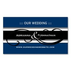 Cute Personalized Wedding Website Cards Business Card Templates