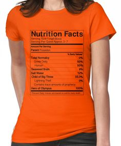 Half-Blood Nutrition Guide (Percy) Women's T-Shirt