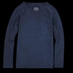 UNIONMADE - BLUE BLUE JAPAN - Hand Dyed Heavy Jersey Long Sleeve Tee in Indigo