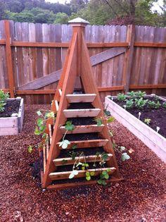 vertical pyramid raised garden bed -