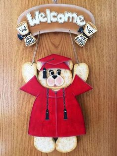 "Graduation Outfit  - Wooden ""Seasonal Bear n Friends"" Outfit by Cherables on Etsy https://www.etsy.com/listing/232964120/graduation-outfit-wooden-seasonal-bear-n"