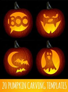 Pumpkins are very important part of Halloween. No pumpkins, no Halloween spirit. Whether you're carving, decorating, or using this classic fall gourd for Halloween inspiration, our pumpkin ideas will excite you all season. Feliz Halloween, Holidays Halloween, Happy Halloween, Halloween 2013, Halloween Jack, Creepy Halloween, Disney Halloween, Vintage Halloween, Pumpkin Template