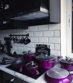 : 25 Gothic Home Decor for the End of Your Home Improvement - Home Decor Ideas -. - : 25 Gothic Home Decor for the End of Your Home Improvement – Home Decor Ideas – Home - Dark Home Decor, Goth Home Decor, Retro Home Decor, Home Sweet Hell, Gothic Home, Gothic Interior, Home Decor Accessories, Purple Kitchen Accessories, Purple Kitchen Decor