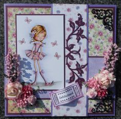 Card made by Wenda Overweg. Nellie's Clearstamp SWE009 Sweet Elin, Crafts Too die CTDI7004 and Paperpack Bella Wildrose PP024. Order these products at snellencrafts.nl