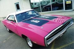 1970 Dodge Charger R/T SE in Panther Pink - this is the type of car that Trip's mom drives.