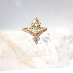 Custom order for Samuel  Yellow Marquise Diamond engagement