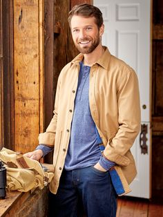 Men's Fleece Lined Twill Shirt Jacket Casual Outfits, Men Casual, Twill Shirt, Winter Gear, Sweaters And Jeans, Mens Fleece, Denim Jumpsuit, Shirt Jacket, The Past