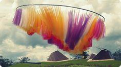"""Aurora Boreal. """"Comfama. parque Arví, Medellín, Colombia. Esta Aurora es absolutamente hermosa!! diseño: Eliana Beltrán, Luisa Restrepo, Clara Restrepo. supervisión de montaje : Laura Marulanda. foto: Andrea Posada."""""""