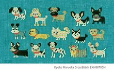 Cute cross stitched doggies inspiration