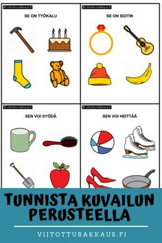 Tunnista kuvailun perusteella - Viitottu Rakkaus Finnish Language, Speech And Language, Pre School, Speech Therapy, Crafts For Kids, Homeschool, Montessori, Teacher, Education