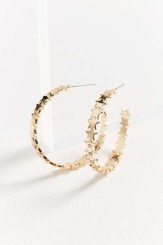 Slide View: 1: Callista Geometric Hoop Earring