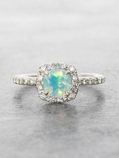 Heavenly Opal Halo Ring #stunningrings
