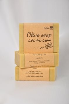 Olive soap (syrian extra virgin olive oil)  Natural 100%, hand made, highest quality Hot process. 2 in 1 - hair care & body care  Our method of soap making saves natural glycerin, tocopherol (vitamin E), triterpenes, antibacterial phenols, sterols  and other substances for skin & hair care also protect them.  Contained in the Tuba soap loose unrelated oils (7%) provide maximum care after washing your hair and body.  https://www.facebook.com/TubaNaturalSoap