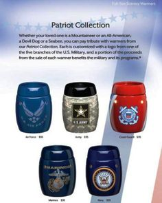 Scentsy Patriot Collection  www.Ginabarabasch.scentsy.com  Order from my site!