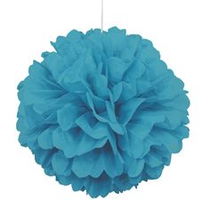 Party Souq - Teal Puff Ball Tissue Decoration|1 pc, $ 8.37