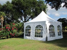 Frame Tent with Window Sides.