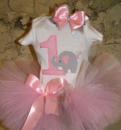 First Birthday Elephant Outfit1st Birthday by LuresandLaceChildren, $41.50 , change to two