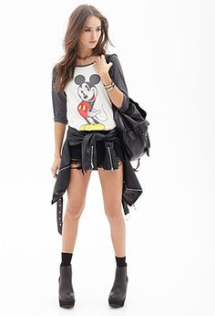 Mickey Mouse Baseball Tee | FOREVER 21 - 2000102878