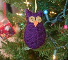 Oh So Cute Owl Ornament   AllFreeChristmasCrafts.com
