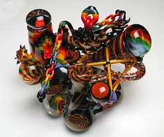 10 Coolest Bongs in the World brought ot you buy StonerDays! This piece was created by the awesome glass blowers over at Sin City Glass Pipes. Glass Pipes And Bongs, Glass Bongs, Crazy Bongs, Pipes For Sale, Cool Pipes, Mary J, Smoke Shops, Custom Glass, Water Pipes