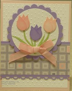 extra large two step bird punch stampin up . Tarjetas Stampin Up, Stampin Up Cards, Owl Punch Cards, Embossed Cards, Flower Cards, Creative Cards, Greeting Cards Handmade, Scrapbook Cards, Homemade Cards