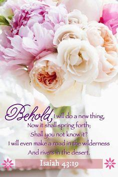 ISAIAH 43:19 sweet words