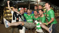Italy and Republic of Ireland fans outside the Municipal Stadium Poznan after their UEFA EURO 2012 Group C match