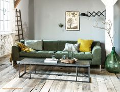 Industrial Decor Living Room Grey Walls Inspirational Industrial Living Room with Pops Of Green and Yellow and A Wooden