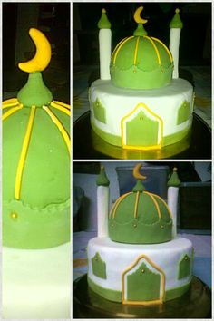First Mosque Cake I just did. Hope to be doing more of this and with more complicated designs :)